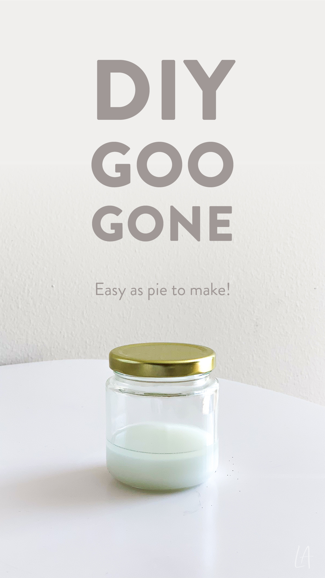 DIY Goo Gone recipe