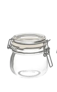 Air-tight glass jar