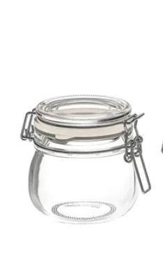 Air-tight glass jar