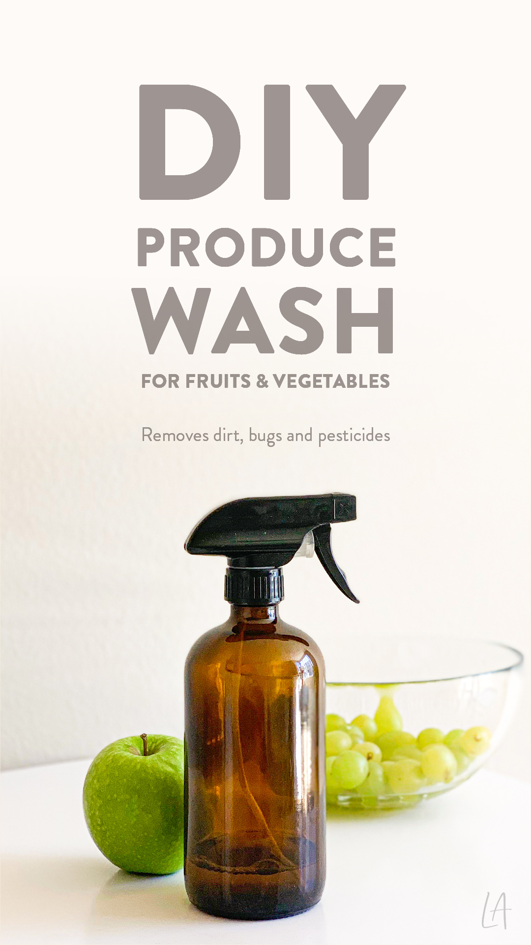 DIY Produce Wash for Fruits & Vegetables