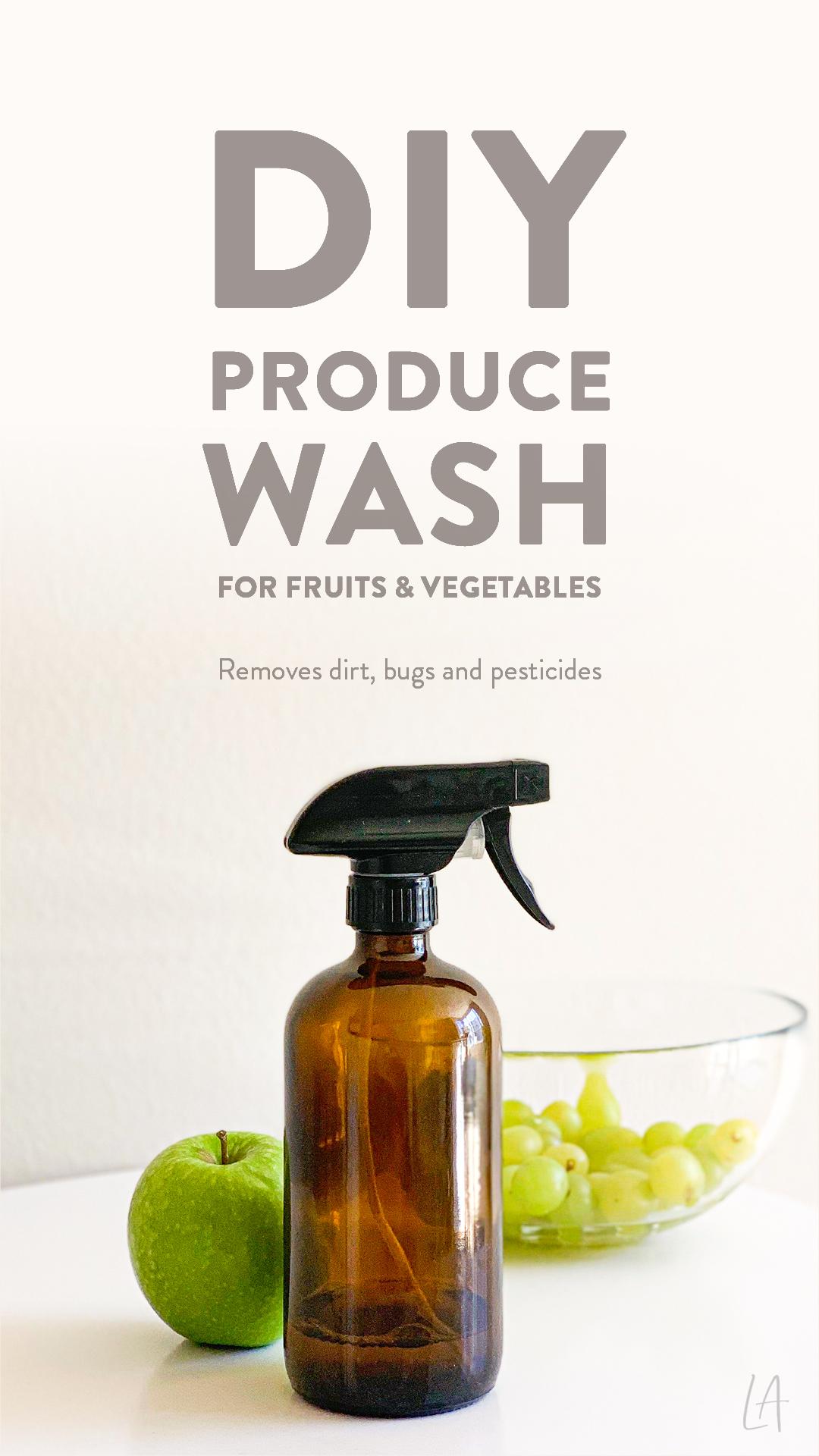 DIY Produce Wash for Fruits & Vegetables