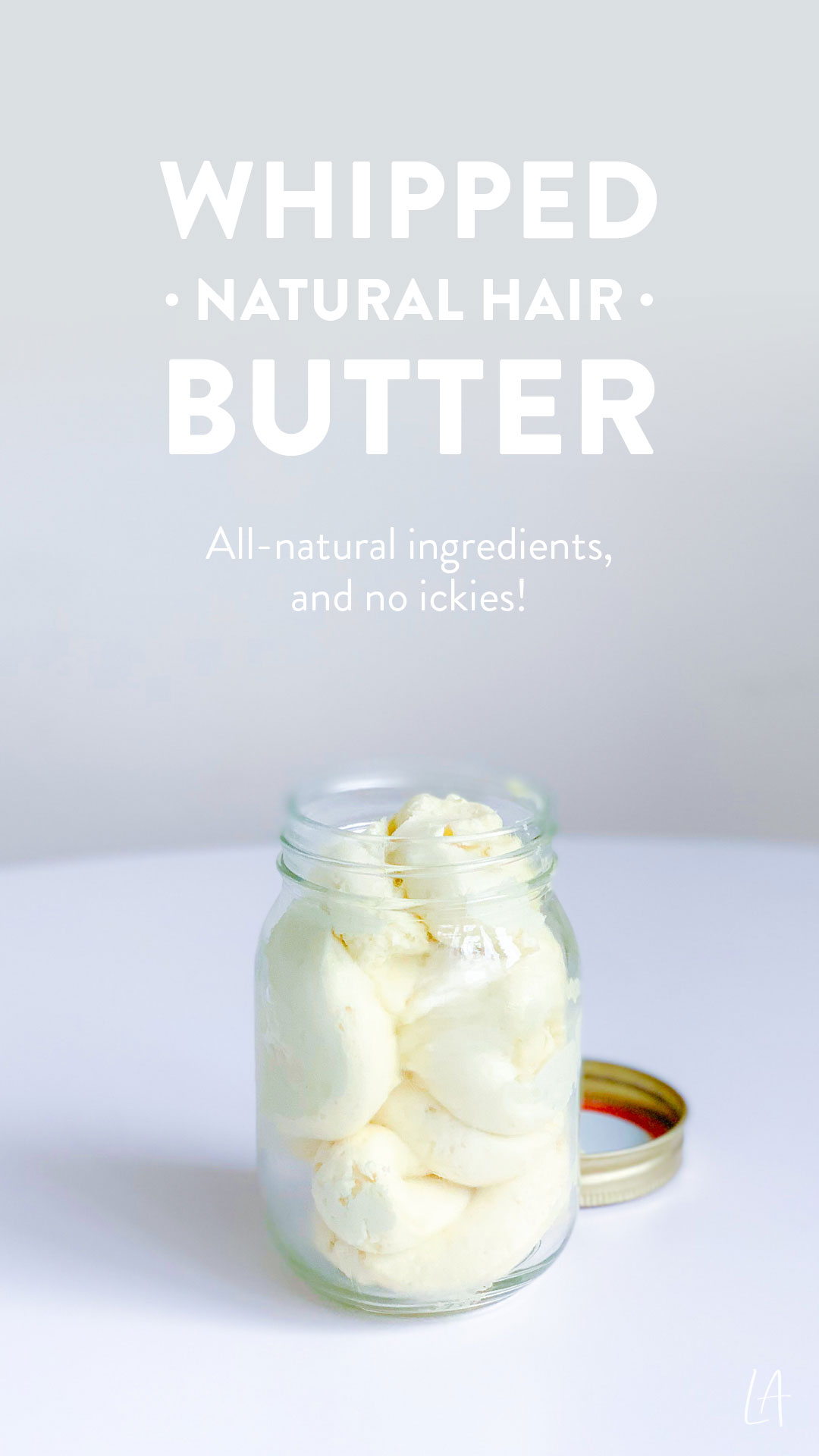 Whipped natural hair butter