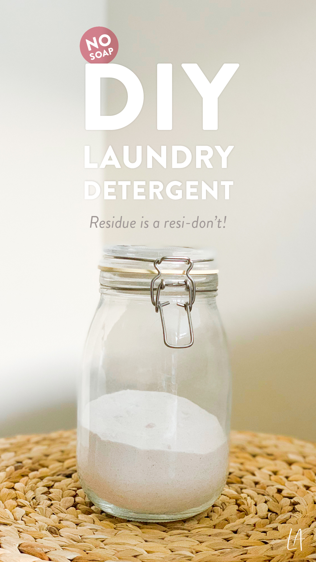 DIY Laundry Detergent without soap