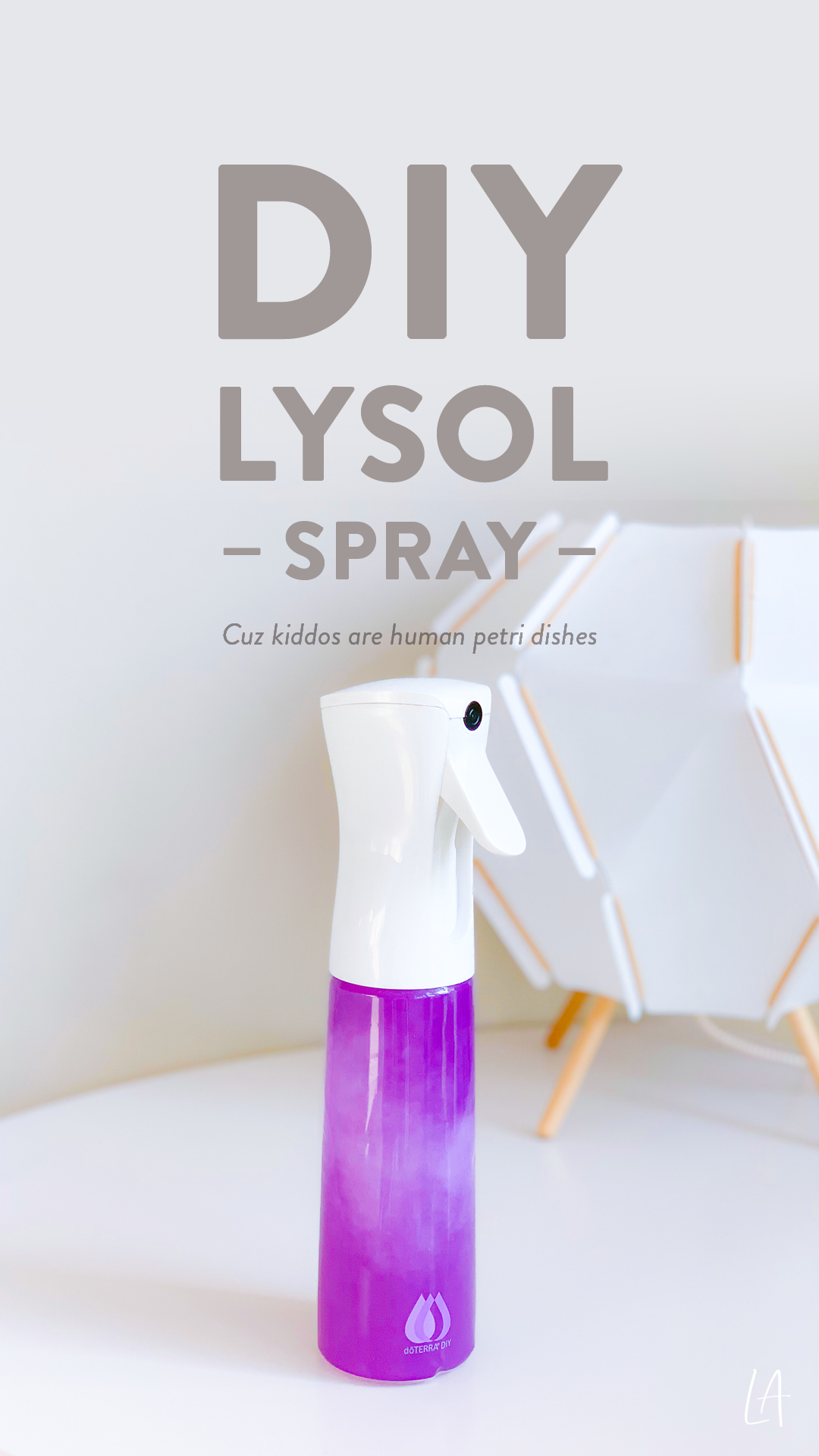How to make your own Lysol spray