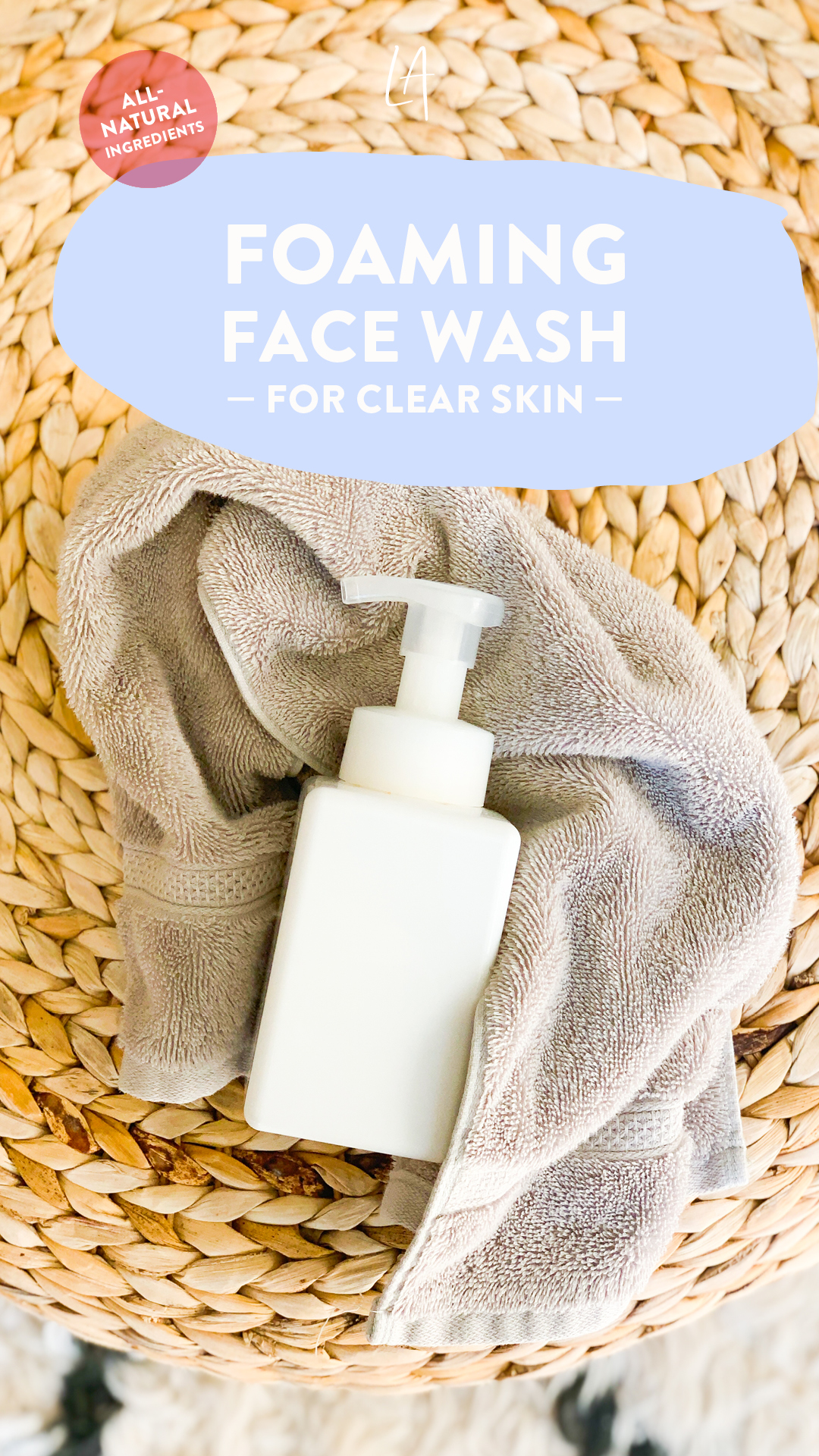 Foaming face wash for clear skin