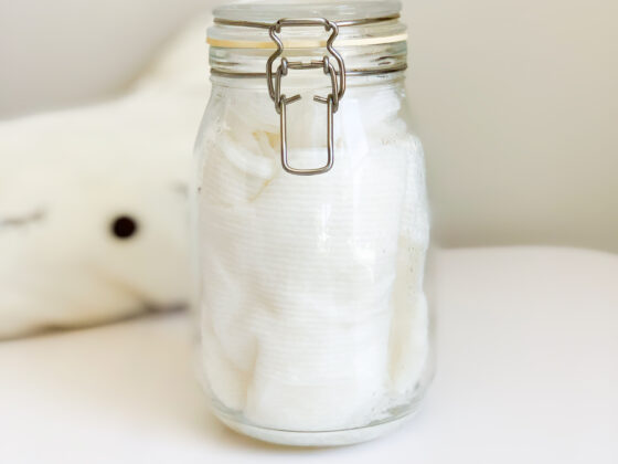 How to make baby butt wipes