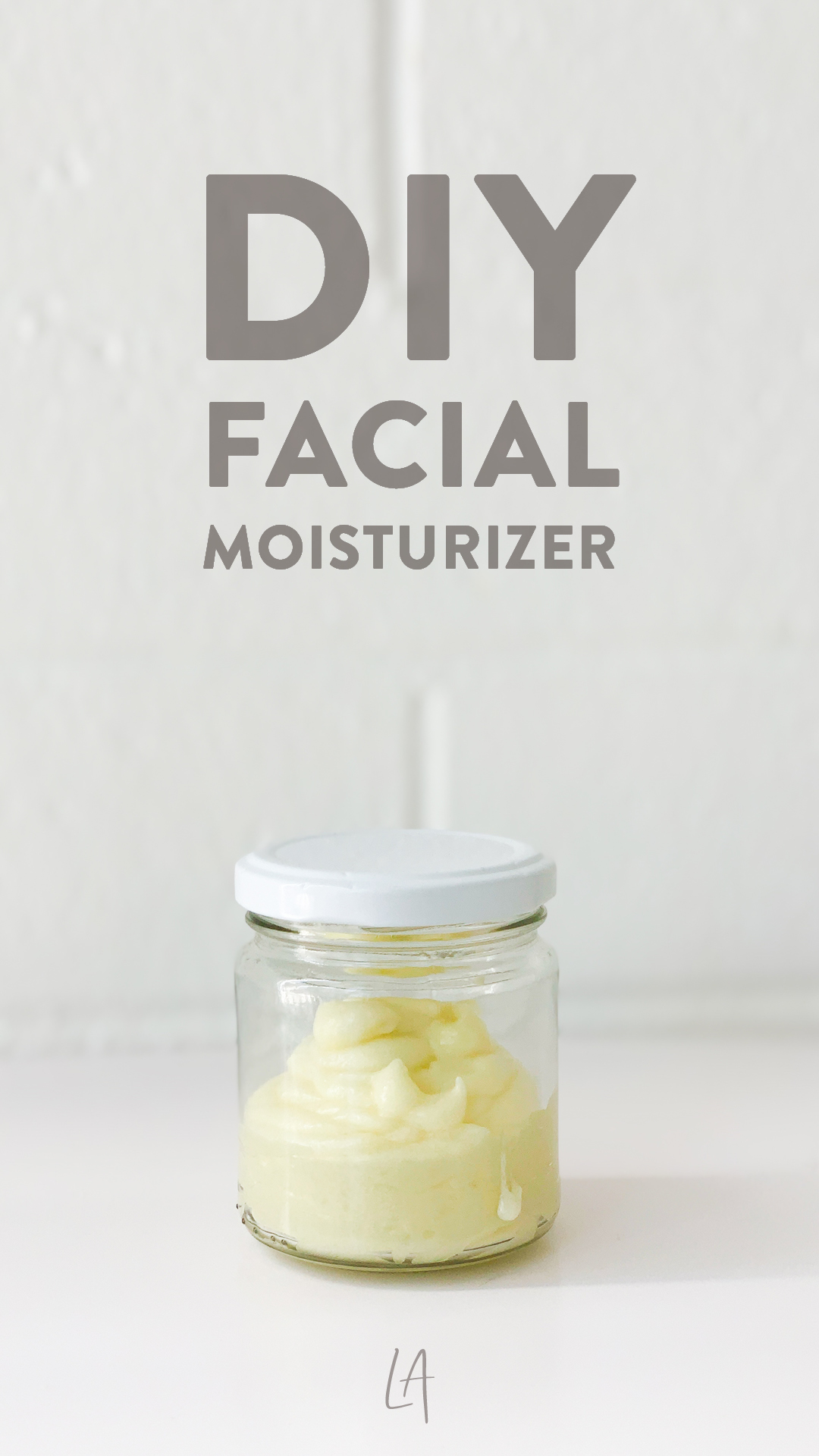 DIY facial moisturizer recipe