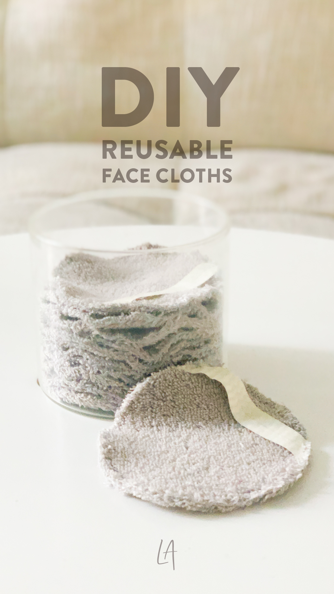 How I made reusable face cloths at home