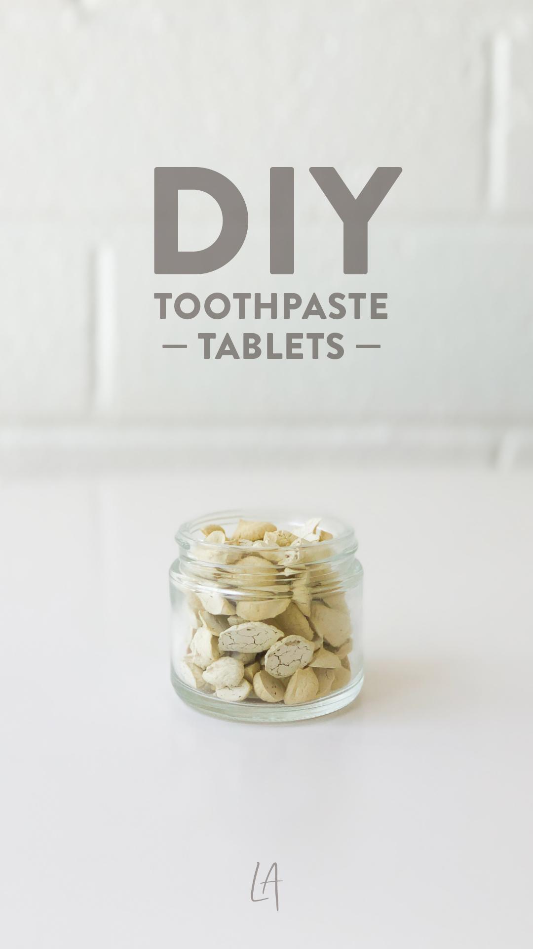 DIY Toothpaste tablets recipe